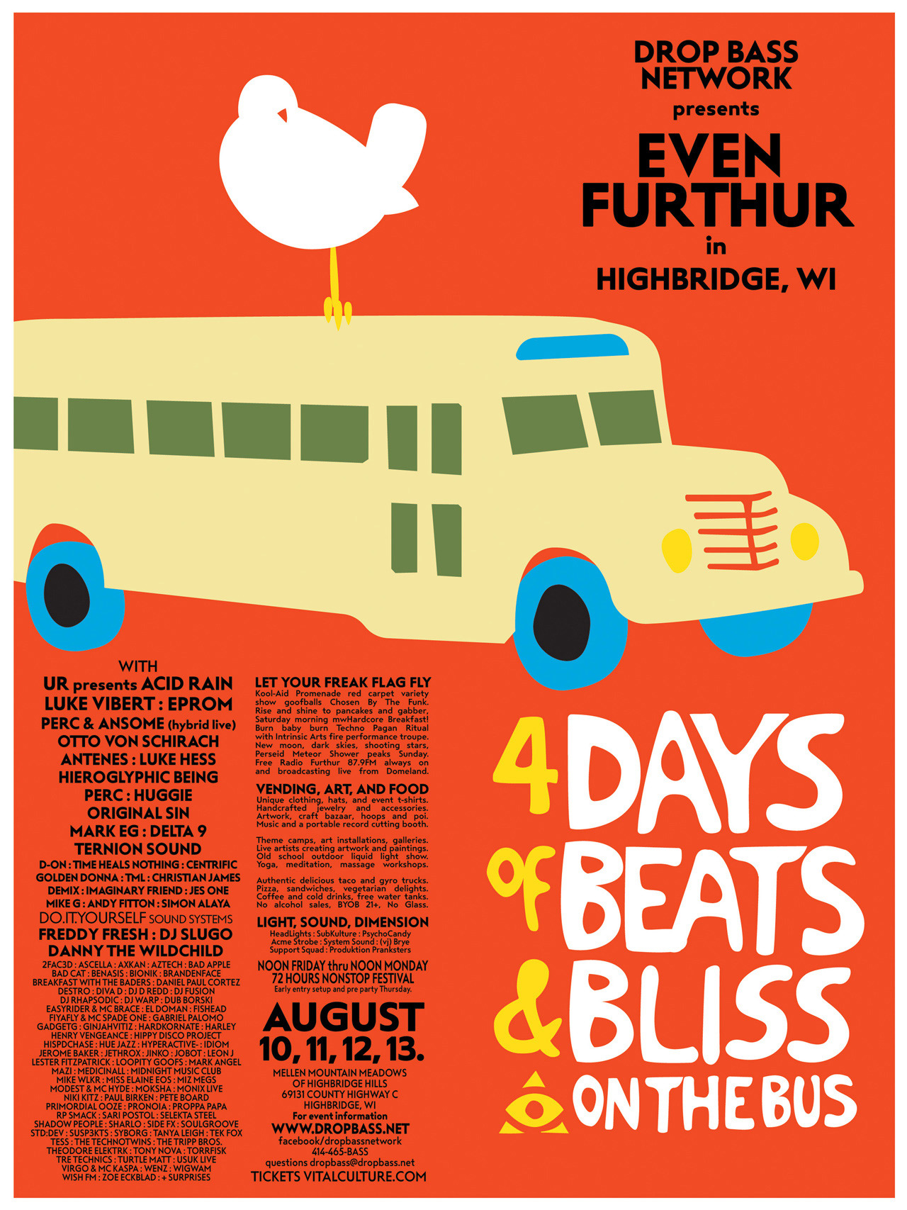 Even Furthur 2018 event announcement flyer front